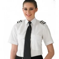 Ladies Pilot Shirt Short Sleeve
