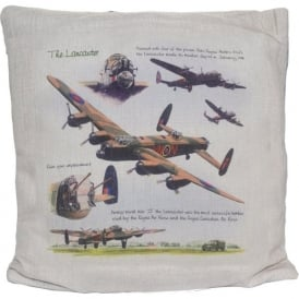 Lancaster Hessian Cream Cushion