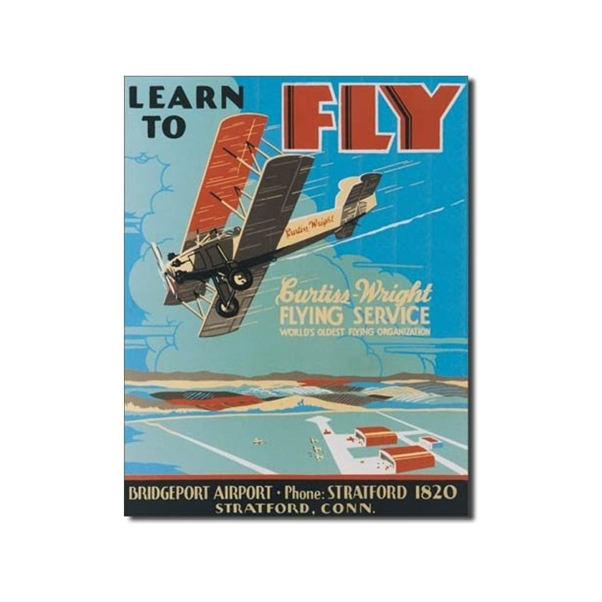 Learn To Fly Retro Tin Sign