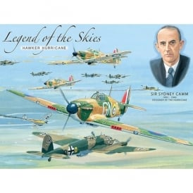 Original Metal Sign Company Legend of the Skies Hurricane Fridge Magnet