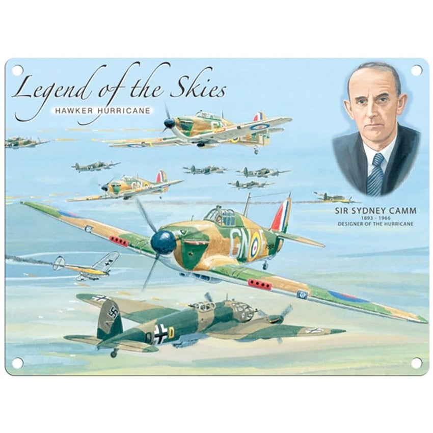 Legend of the Skies Hurricane Metal Sign