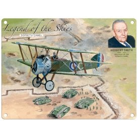 Legend of the Skies Sopwith Camel Metal Sign