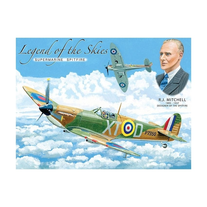 Legend of the Skies Spitfire Fridge Magnet
