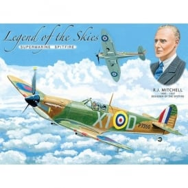 Original Metal Sign Company Legend of the Skies Spitfire Fridge Magnet