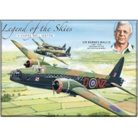 Legend of the Skies Wellington Fridge Magnet