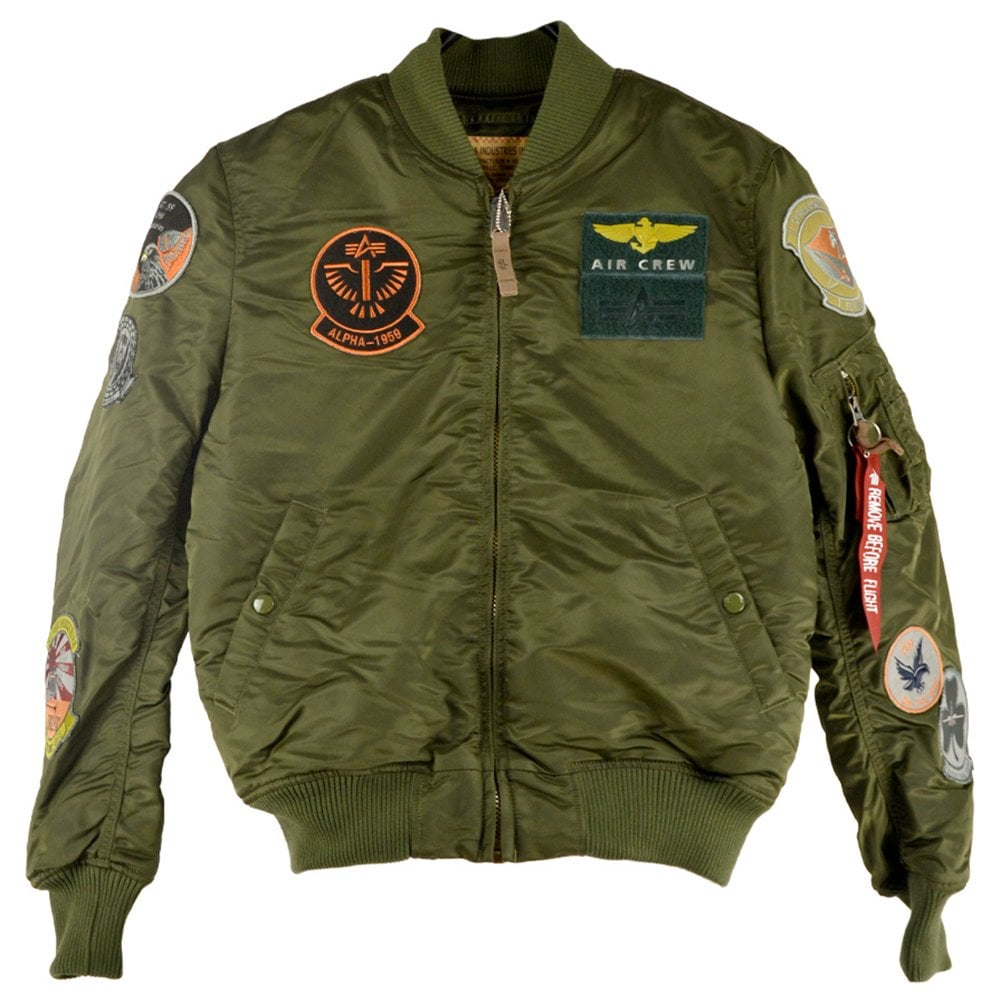 Alpha Industries MA-1 Pilot Jacket with Patches 06809a9d231