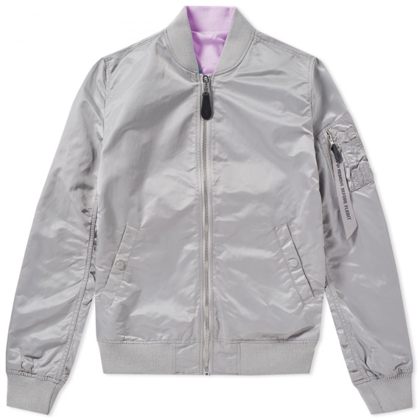MA-1 VF LW Revserible Ladies Jacket in Silver