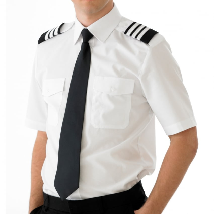 Mens Pilot Shirt Short Sleeve