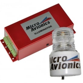 Micro Avionics Single Head High Power Strobe with Cylinder Lens