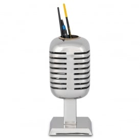 Microphone Cast Aluminium Pencil Holder