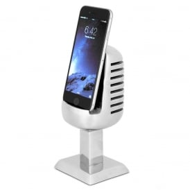 Microphone Cast Aluminium Phone Holder