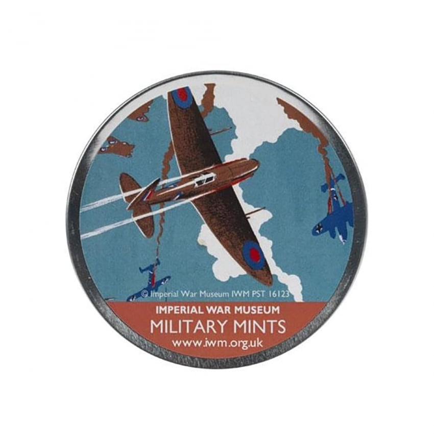 Military Aircraft Poster Round Tin of Mints 200g