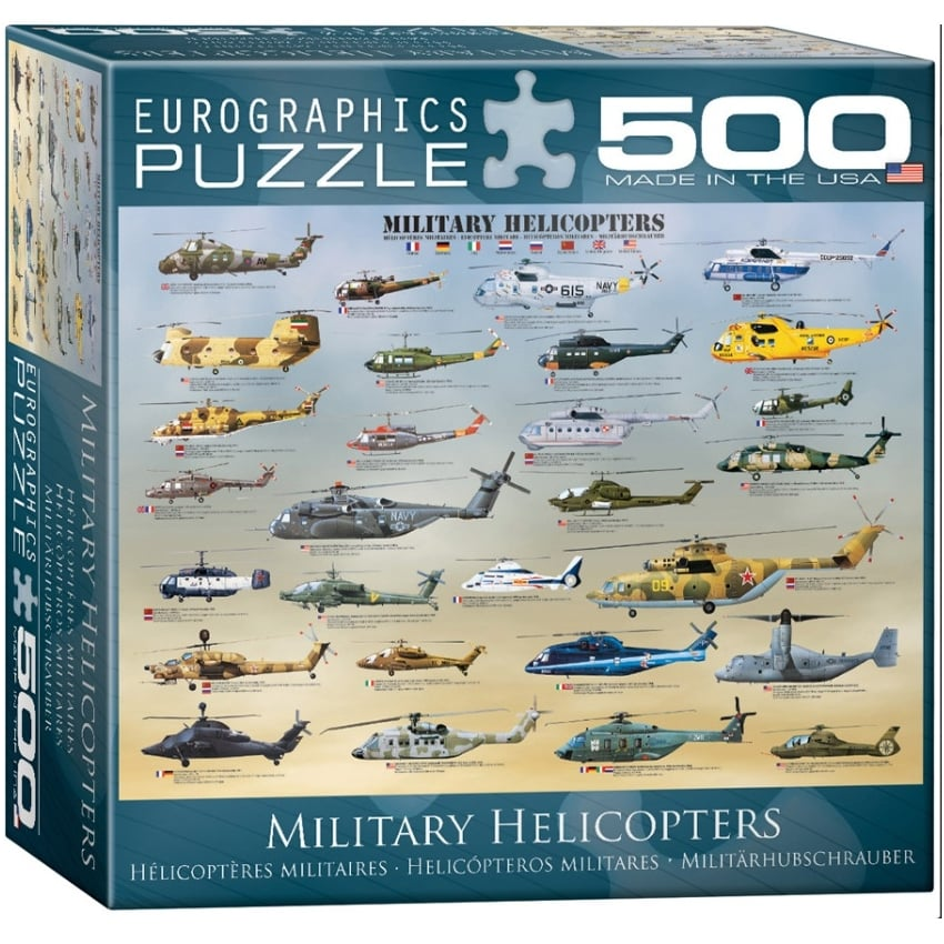 Military Helicopters Jigsaw (500 pieces)