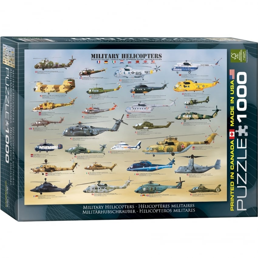 Military Helicopters Jigsaw Puzzle (1000 pieces)