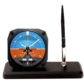 Modern Artificial Horizon Clock and Pen Set