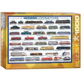 Modern Locomotives 1000 Piece Jigsaw
