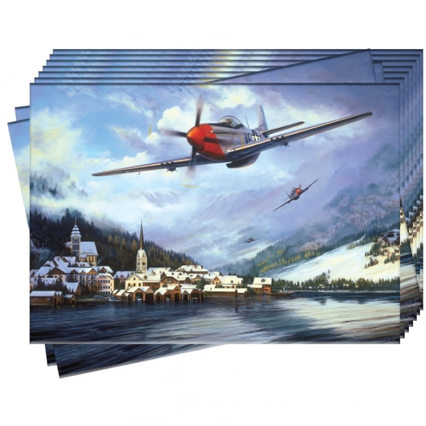 Mustangs over the Reich Greeting Cards - Pack of 10