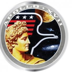 Half Moon Bay NASA Apollo XVII Enamel Pin Badge