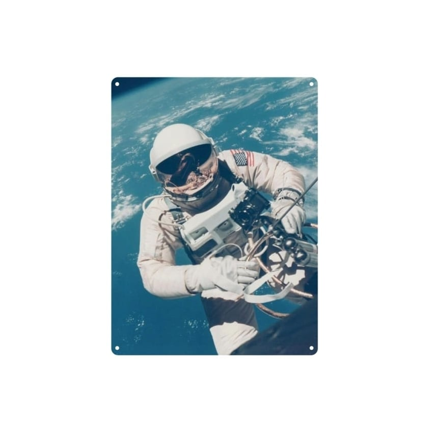 NASA Astronaut Tin Sign