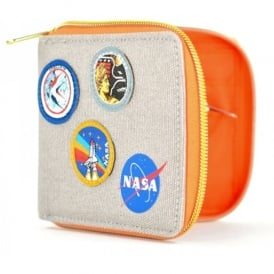 Half Moon Bay NASA Canvas Wallet with Badges