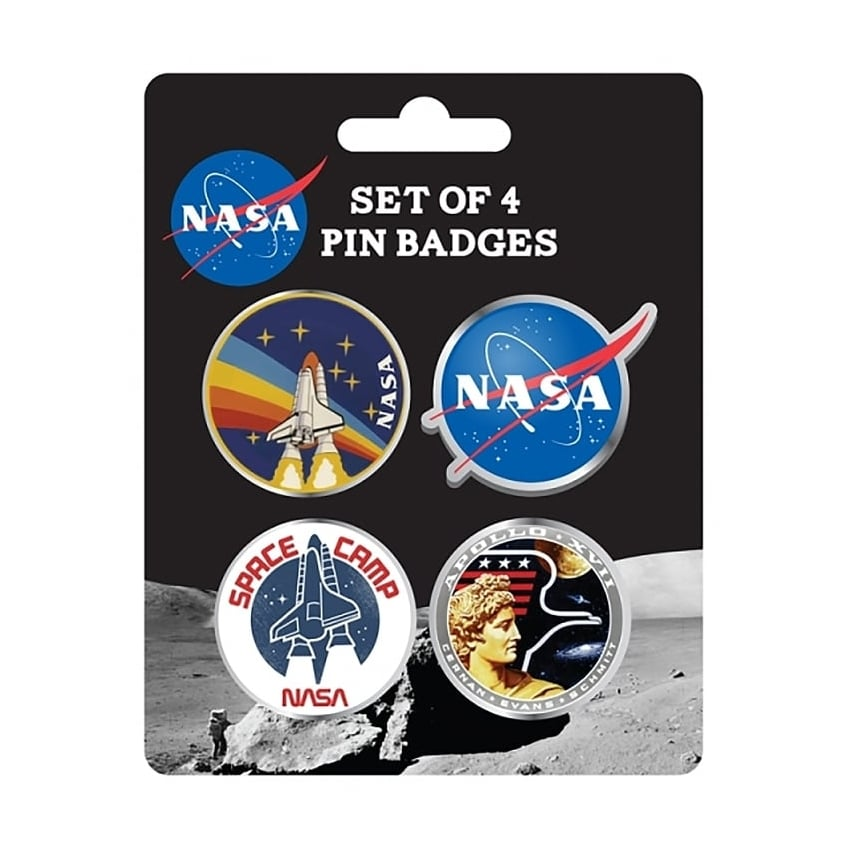 NASA Enamel Pin Badge - Set of 4