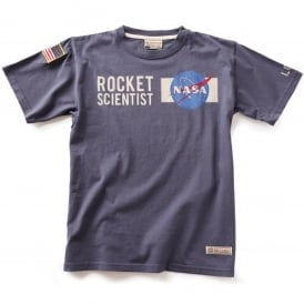 NASA Rocket Scientist T-Shirt - Washed Blue