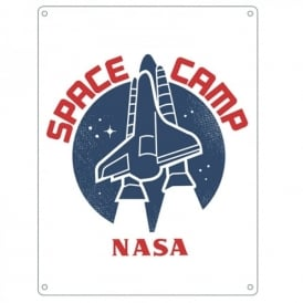 NASA Space Camp Small Tin Sign