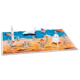 NASA Space Exploration 20 Piece Play Set with Mat