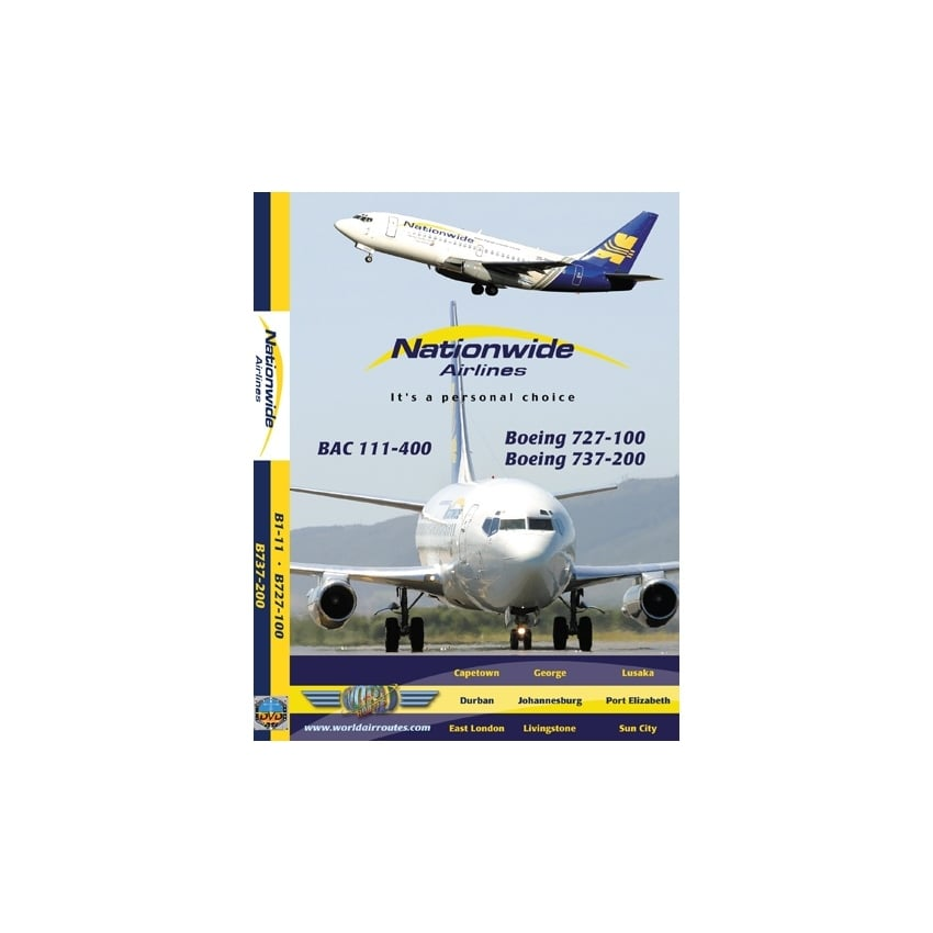 Nationwide Airlines Boeing 727 DVD