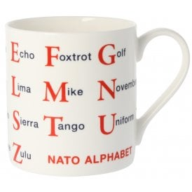 McLaggan Smith NATO Phonetic Alphabet Large Mug