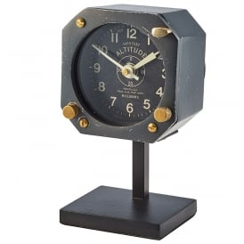 Navigation Table Clock in Black