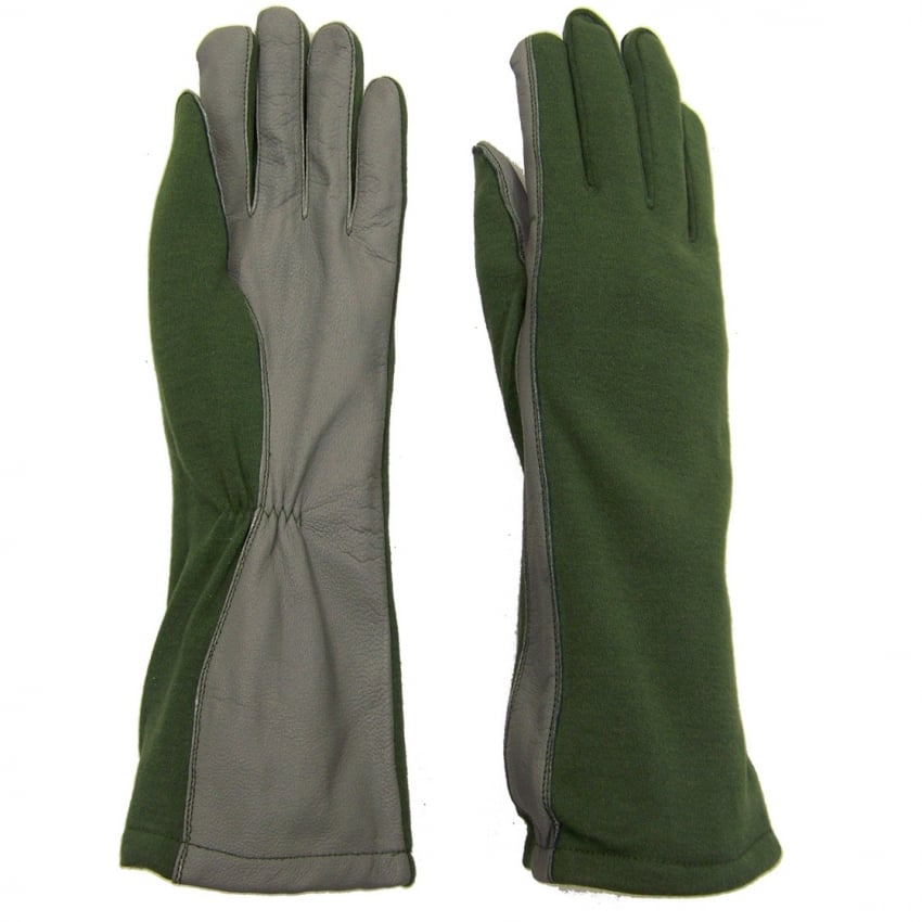 Nomex Flight Gloves - Sage Green