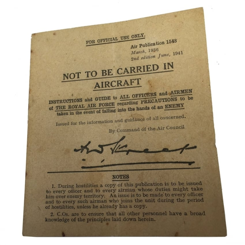 Not Be Carried Replica WW2 Capture Leaflet