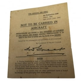 Memorabilia Pack Not Be Carried Replica WW2 Capture Leaflet