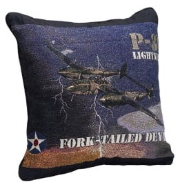 P-38 Lightning Filled Cushion