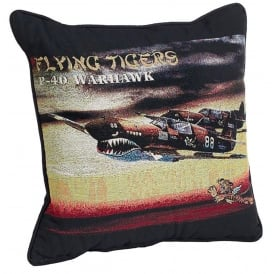 P-40 Flying Tigers Filled Cushion