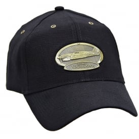 P-40 Warhawk Airplane Cap with Brass Emblem