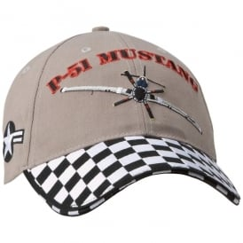 P-51 Mustang Cap - Checkerboard Peak