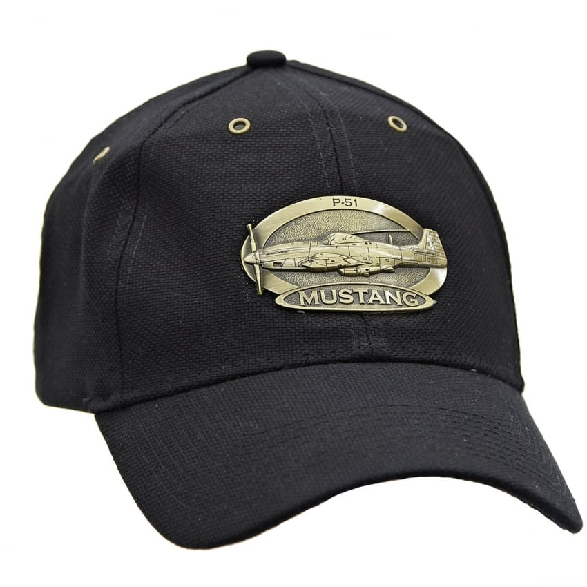 P-51 Mustang Cap with Brass Emblem