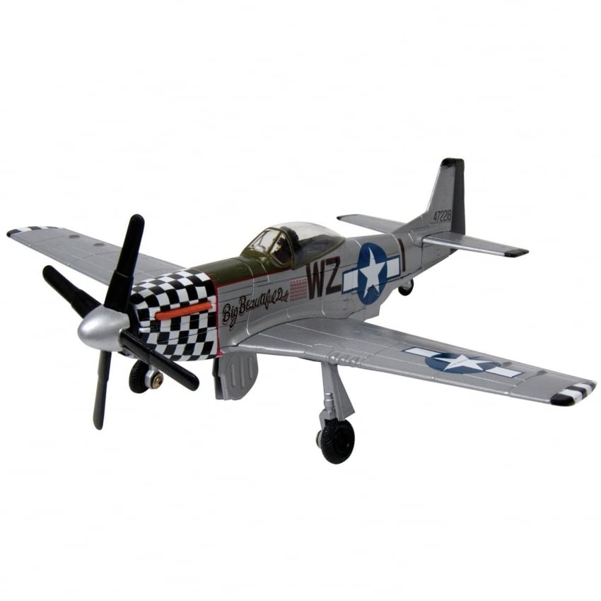 P-51 Mustang Die Cast Model Aircraft - Scale 1:48