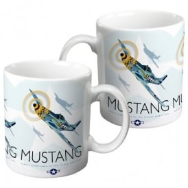 P51 Mustang Mug by Peter McDermott