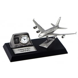 Pewter Desk Clock - Airbus A380