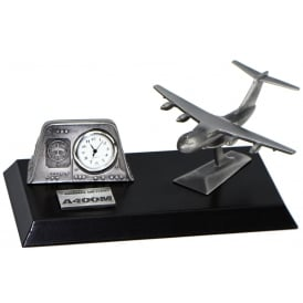 Pewter Desk Clock - Airbus A400M