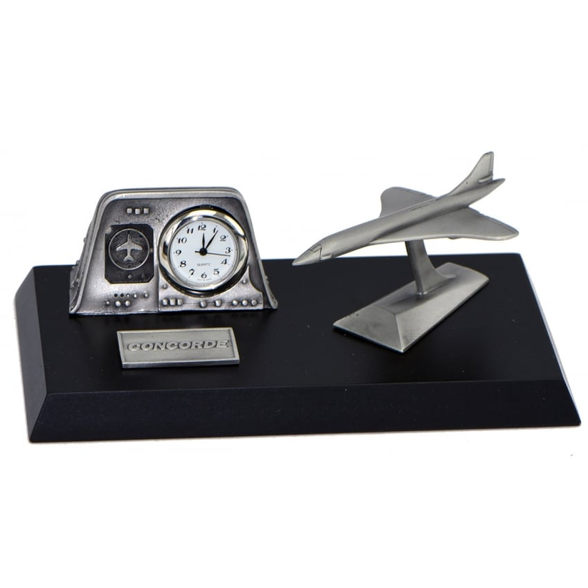 Pewter Desk Clock - Concorde