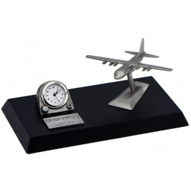 Pewter Desk Clock - Hercules C130
