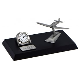 Pewter Desk Clock - Hurricane