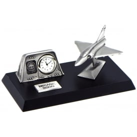 Pewter Desk Clock - Mirage 2000