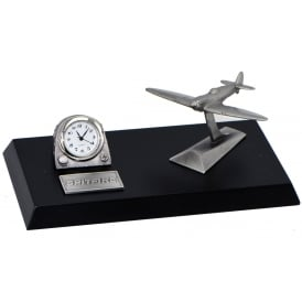 Pewter Desk Clock - Spitfire