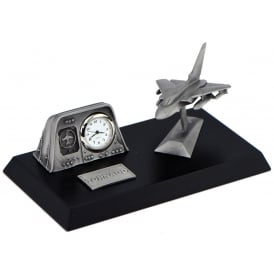 Pewter Desk Clock - Tornado
