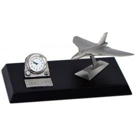 Pewter Desk Clock - Vulcan